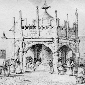Bridgwater Market Cross as depicted by John Chubb, circa 1800